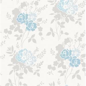Fine Decor Claudia Wallpaper - Blue / Duck Egg