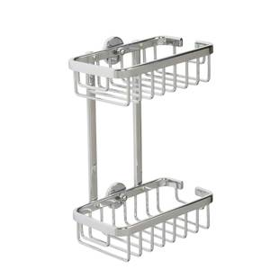 Croydex Premier 2 Tier Cosmetic Basket/Shower Caddy - Chrome