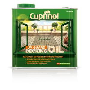 Cuprinol UV Guard Decking Oil - Natural Oak - 2.5L