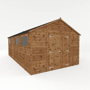 Mercia 10x20ft Light Brown Premium Shiplap Wooden Workshop