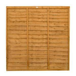 Forest Larchlap Lap 6x6ft Fence Panel - Pack of 3