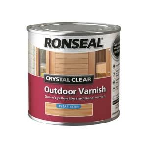 Ronseal Crystal Clear Outdoor Varnish Satin - 250ml