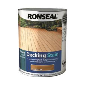 Ronseal Standard Decking Stain Country Oak - 5L