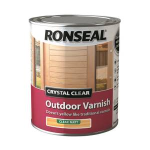 Ronseal Crystal Clear Outdoor Varnish Matt - 750ml