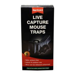 Rentokil Live Capture Mouse Trap (Pack of 2)