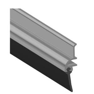 Stormguard Rubber Door Bottom Strip Draught Excluder - Polished Aluminium 838mm