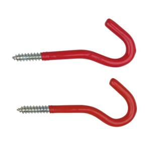 Round Utility Hook - Red - 2 Pack