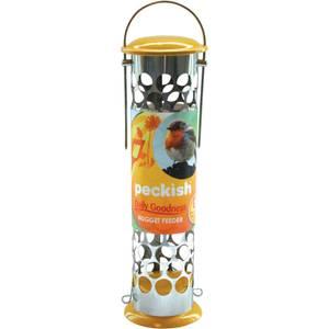 Peckish Daily Goodness Bird Feeder - Yellow