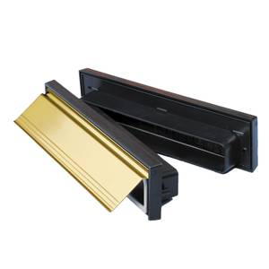 Stormguard Sleeved Letter Box Draught Excluder - Gold