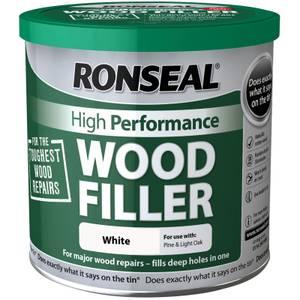 Ronseal High Performance Wood Filler - White - 550g
