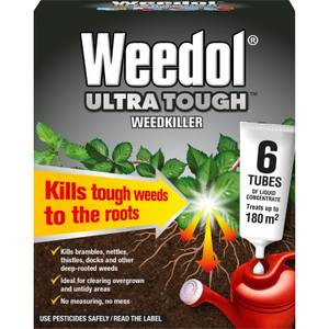 Weedol Ultra Tough Liquid Concentrate Weedkiller - 6 Tubes