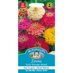 Mr. Fothergill's Zinnia Early Wonder Mixed Seeds