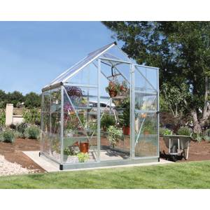 Palram Harmony Silver Greenhouse - 6 x 4 ft