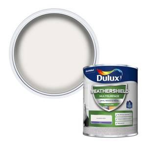 Dulux Weathershield Multi Surface Quick Dry Satin Paint - White - 750ml