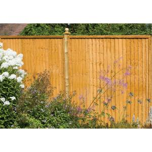 Forest Larchlap Closeboard 1.5m Fence Panel - Pack of 4