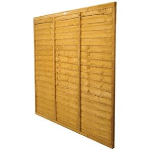 Forest Larchlap Lap 1.5m Fence Panel - Pack of 4