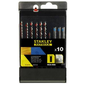 Stanley Fatmax 10Pc Mixed Jigsaw Blades U - STA29230-XJ