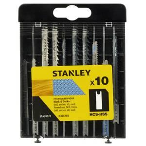 Stanley 10Pc Mixed Jigsaw Blades U - STA28020-XJ