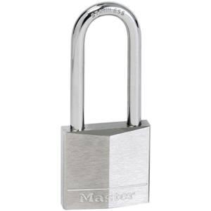 Master Lock Nickel Plated Long Shackle Padlock - 40mm