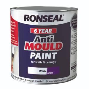 Ronseal Anti Mould Paint - 2.5L White Matt