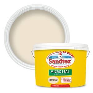 Sandtex Ultra Smooth Masonry Paint - Ivory Stone - 10L
