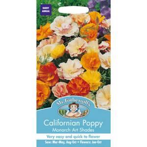 Mr. Fothergill's Californian Poppy Monarch Art Shades (Eschscholzia Californica) Seeds
