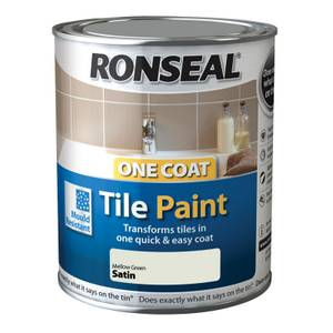 Ronseal One Coat Tile Paint Mellow Green Satin 750ml