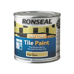 Ronseal One Coat Tile Paint Lime Green High Gloss 250ml