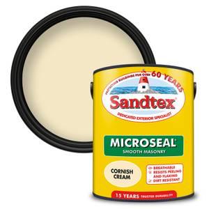 Sandtex Ultra Smooth Masonry Paint - Cornish Cream - 5L