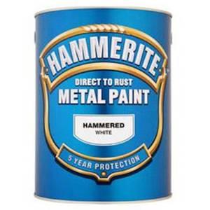 Hammerite White - Hammered Exterior Metal Paint - 250ml