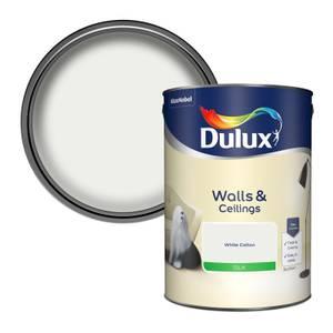 Dulux White Cotton - Silk Emulsion Paint - 5L