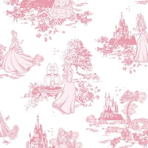 Disney Princess Toile Wallpaper