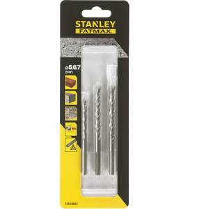 Stanley Fatmax 3Pc Masonry Drill Bit Set - STA58682-QZ