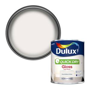 Dulux Pure Brilliant White - Quick Dry Gloss - 750ml