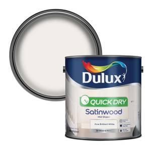Dulux Pure Brilliant White - Quick Dry Satinwood - 2.5L