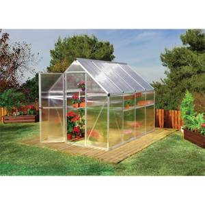 Palram Mythos Silver Greenhouse - 6 x 8ft