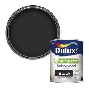 Dulux Black - Quick Dry Satinwood - 750ml