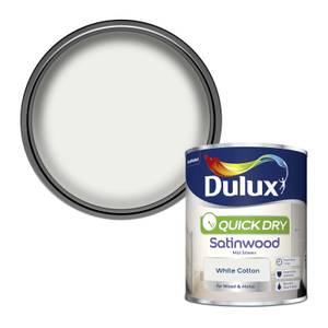 Dulux White Cotton - Quick Dry Satinwood - 750ml