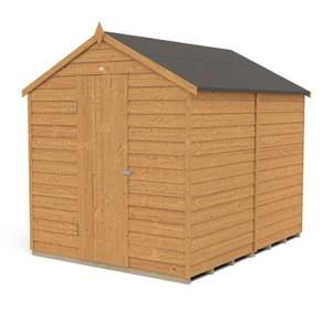 8x6ft Forest Overlap Dip Treated Apex Shed - No Window
