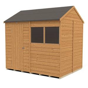 8x6ft Forest Overlap Dip Treated Reverse Apex Shed