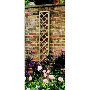 Forest Hidcote Framed Wooden Lattice Trellis - 0.3x1.8m
