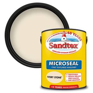 Sandtex Textured Masonry Paint - Ivory Stone - 5L