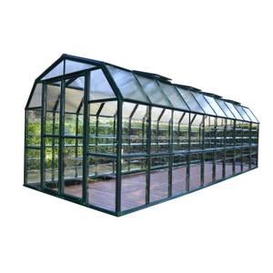 Rion 8 x 20ft Grand Gardener Black Greenhouse