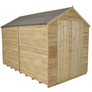 10x8ft Forest Natural Timber Overlap Apex No Window Workshop