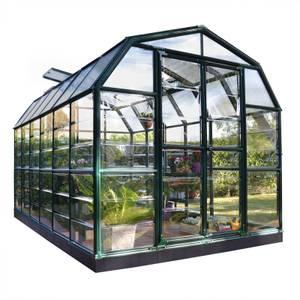 Rion 8 x 12ft Grand Gardener Black Greenhouse