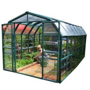 Rion 8 x 16ft Grand Gardener Green Greenhouse