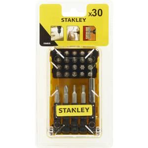 Stanley 30Pc Screwdriver Bit Fan Set - STA60525-XJ