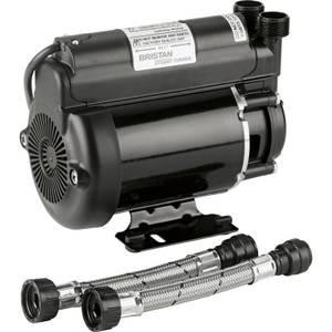 Bristan 2.0 Bar Single End Shower Pump - Black