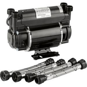 Bristan 1.5 Bar Twin Impeller End Shower Pump - Black