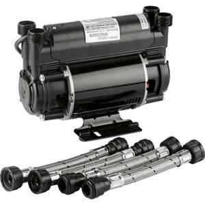 Bristan 2.0 Bar Twin Impeller End Shower Pump - Black